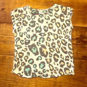 Other - Leopard print girls 10/12 shirt